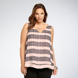 Torrid - Lace Print Layered Tank Top